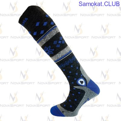 Носки Enforma Freeski Hot Compression grey/blue 4-1043