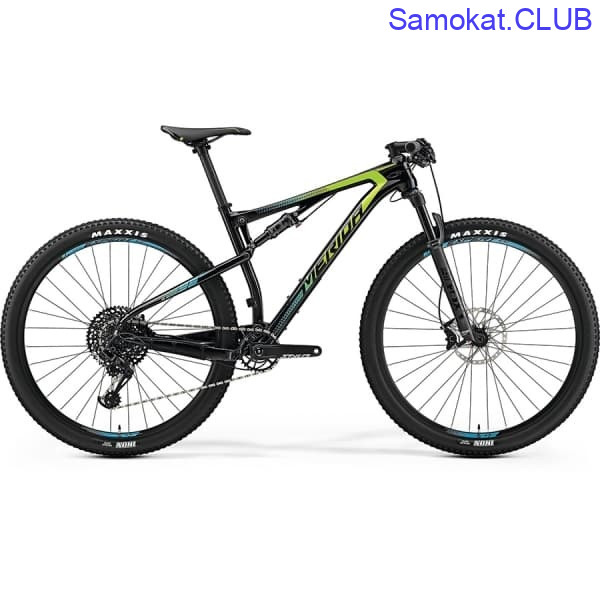 Велосипед Merida Ninety-Six 9.6000 UDCarbon/Green/Blue 2019